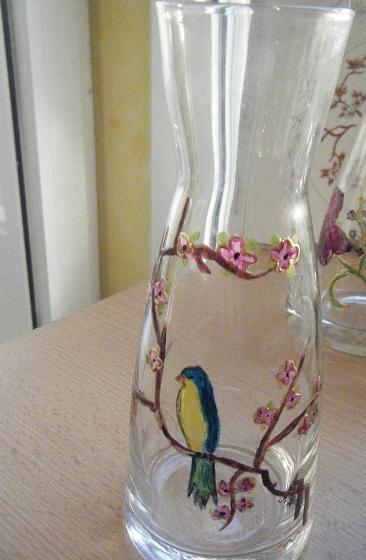 Vase peinture sur verre boutique for Enlever peinture sur verre